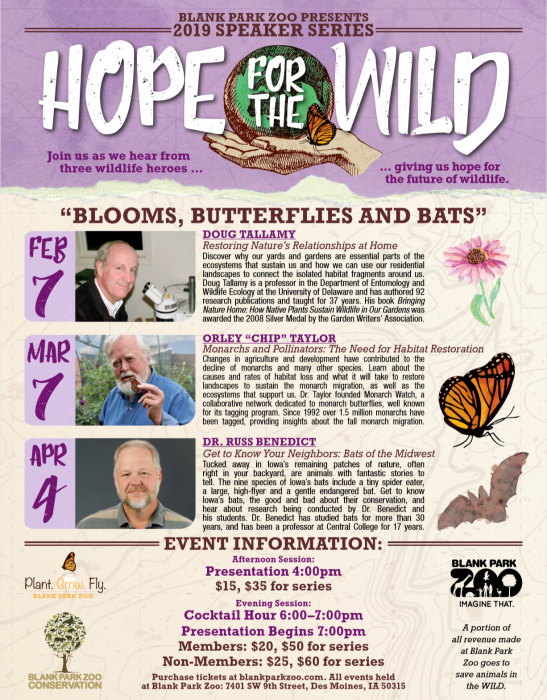Blank Park Zoo Hope for the Wild Poster