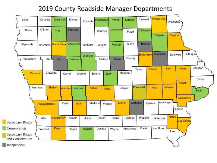 2019 County Roadside Manager Departments