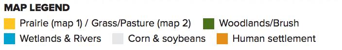 Iowa Maps Legend