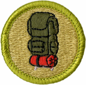 Backpacking Merit Badge Patch