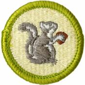 Mammal Study Merit Badge Patch