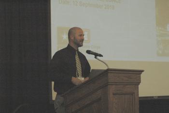 Tyler Christiansen speaking