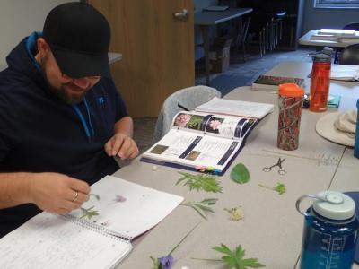 Michael Lashbrook learns to identify prairie plants