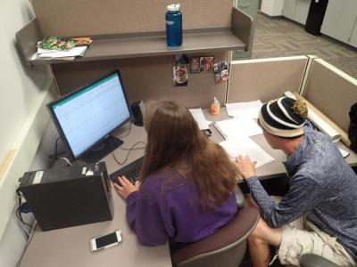 Data analysis - Seven of the nine students conducted an independent research project