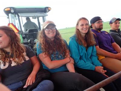 Attending a Prairie on Farms field day at Nashua Research Farm