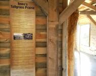 The root display at Dragoon Trace Nature Center highlights the natural history and ecological services of tallgrass prairie in R