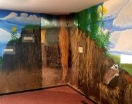 The Meskwaki display helps Settlement youth understand the ecological and cultural importance of prairie.
