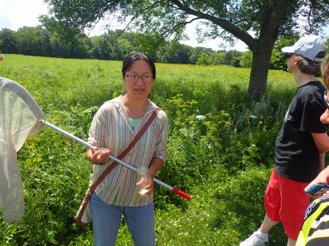 Dr. Wen with sweep net