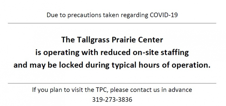 TPC staff working remotely due to COVID-19. Call 319-273-3836 for appointment.