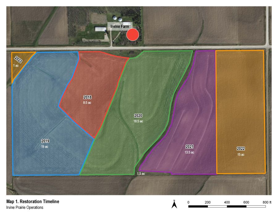 Irvine Prairie Seeding Plan Map